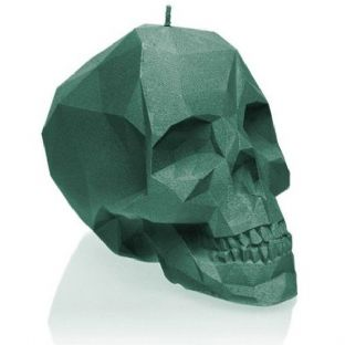 Candellana - Big Skull Candle - Aligator Green